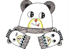 三只熊装饰画作画步骤