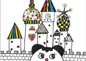 童画故事里的城堡儿童装饰画作画步骤