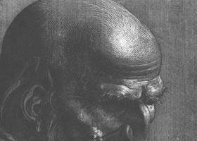丢勒《使徒的肖像》速写作品