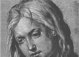 丢勒《耶稣的头像》速写作品