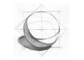 球体的结构素描画法步骤
