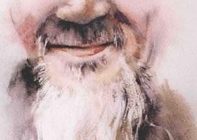 白胡须水彩画法