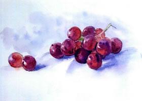 葡萄水彩画法步骤