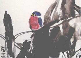 陈琪《芭蕉小鸟》花鸟画
