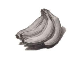 香蕉素描画法(三)