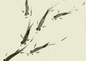 游鱼的写意画法步骤图示
