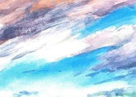 《密布的云》水粉画法步骤图示
