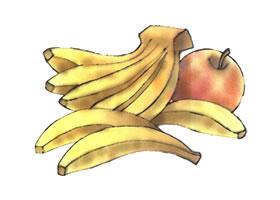 香蕉儿童水彩画法步骤图示