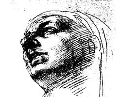 米开朗基罗《玛利亚头像习作》