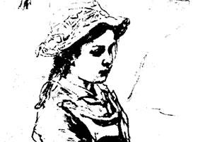列宾《小姑娘》素描作品赏析