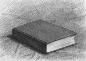 书本的素描画法步骤图示