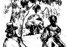 塞尚《树荫下》素描作品赏析