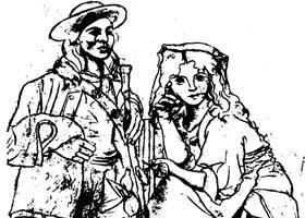 毕加索《两个农民》素描作品赏析