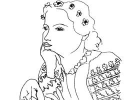 马蒂斯《女人像》素描作品赏析