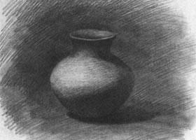 陶罐的素描画法步骤图示