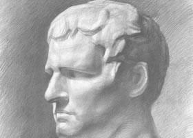 阿古里巴石膏像素描画法(二)