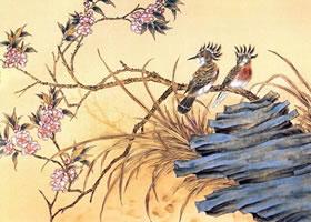 工笔画《桃花戴胜鸟》创作技法及步骤图示