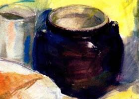 罐子的水彩画表现方法