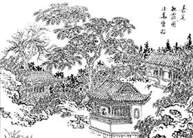 嘉定秋霞园白描作品