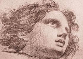 戈雅《男孩头像》素描作品