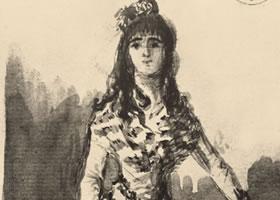 戈雅《年轻女人的肖像》素描