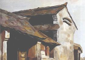 房子的水彩画写生创作步骤