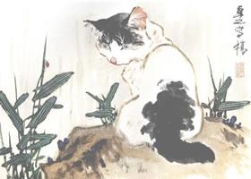 黑花猫的小写意画法