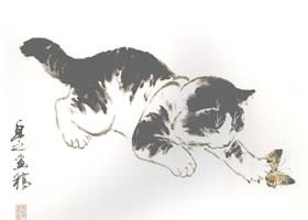 黑狸花猫小写意画法