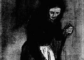 梵高《拿扫把的女人》经典素描欣赏