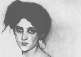 谢洛夫《伊莎贝拉•格林贝格肖像》经典素描