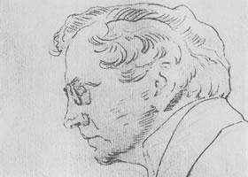 谢洛夫《瓦西里•卡恰洛夫肖像》经典素描