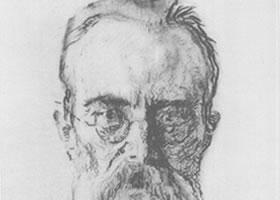 谢洛夫《李姆斯基•科萨柯夫肖像》经典素描