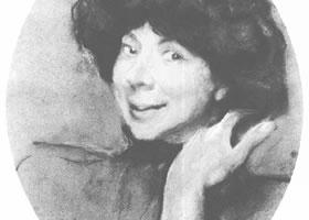 谢洛夫《安娜•班诺瓦肖像》经典素描