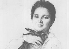 谢洛夫《奥布宁斯卡娅肖像》经典素描