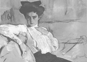 谢洛夫《昂里埃特•赫斯曼肖像》经典素描