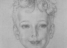 费欣《男孩肖像》经典素描欣赏
