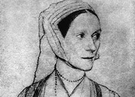 荷尔拜因《塞斯丽•海伦肖像》经典素描欣赏
