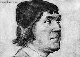 荷尔拜因《约翰•波尼肖像》经典素描欣赏