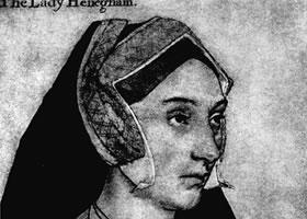 荷尔拜因《玛丽•哈温宁海姆女士肖像》经典素描