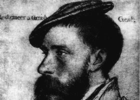 荷尔拜因《威廉•莱斯凯默肖像》素描欣赏