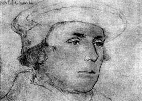 荷尔拜因《理查德•巴伦肖像》经典素描