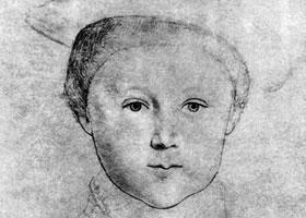 荷尔拜因《威尔士王子肖像》经典素描