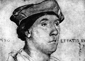 荷尔拜因《理查德•萨斯威尔肖像》经典素描欣赏