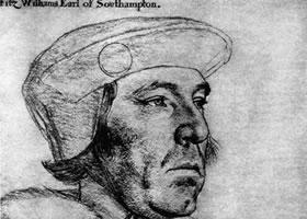 荷尔拜因《威廉•菲茨威廉侯爵肖像》经典素描