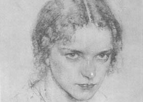 费欣《艾雅肖像》经典素描欣赏