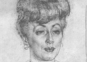 费欣《年轻女人肖像》经典素描欣赏