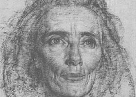 费欣《艾拉•扬肖像》经典素描欣赏