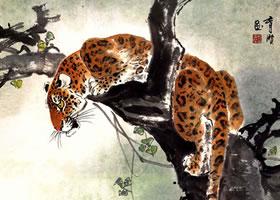 豹的写意画法