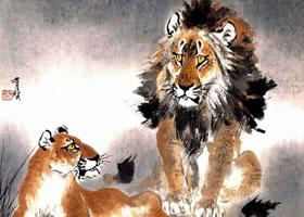 狮子的写意画法