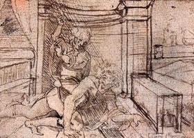 达芬奇《亚里斯多德与菲丽斯》素描作品赏析